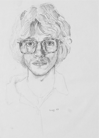 Self Portrait with Big Glasses 1997